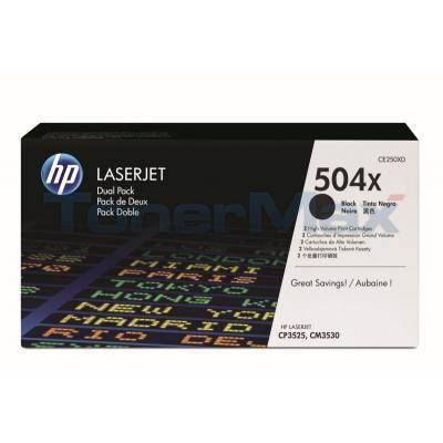 HP LJ 504X TONER CARTRIDGES BLACK DUAL PACK